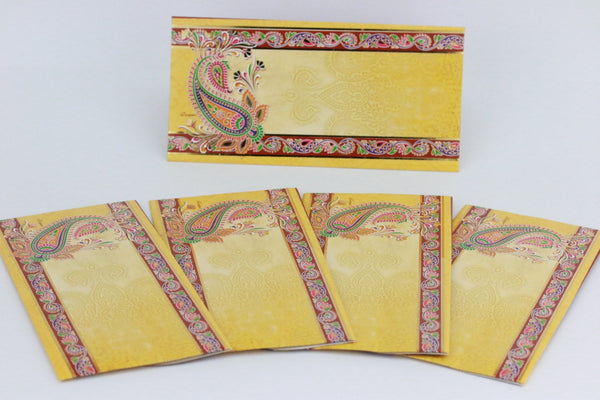 Indian wedding money envelopes Beautiful wedding money envelope Set of 10 ( 10 envelopes in pack)