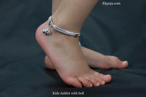 Stunning Kids Ankle Chain Anklet Bell Indian Payal Bollywood Foot Bracelet Kids payal bell Anklets Single OR Pair