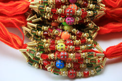 12 Rakhi - Rakshabandhan Rakhi Wristband- Rakhi Wristband - brother Rakhi - Rakhi Wristband threads - set of 12 Rakhi