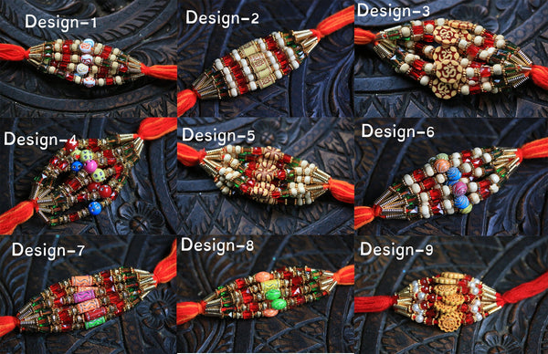 Rakhis for Raksha Bandhan Handmade rakhi for brother 12 rakhi set