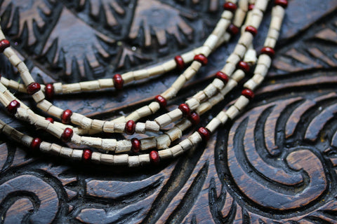 Tulsi Beads necklace - double round Tulsi necklaces- Handmade Tulsi Beads Necklace - Tulsi kanthi mala - beads tulsi Mala - Krishna Mala