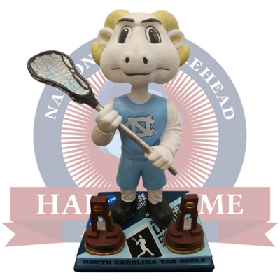 North Carolina Tar Heels NCAA Lacrosse National Champions Bobblehead - National Bobblehead HOF Store