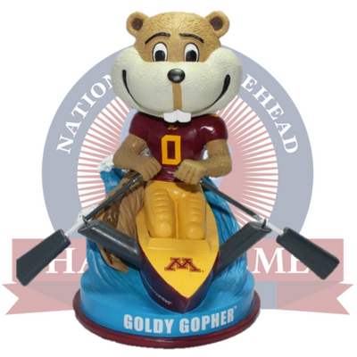 Minnesota Golden Gophers Goldy Gopher Bobblehead - National Bobblehead HOF Store