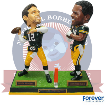 Rodgers to Cobb Hail Mary Bobblehead - National Bobblehead HOF Store