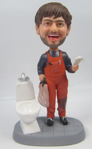 Bathroom Tile Setter Bobblehead