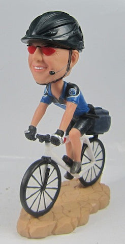 Bicycle Police Officer Bobblehead - National Bobblehead HOF Store