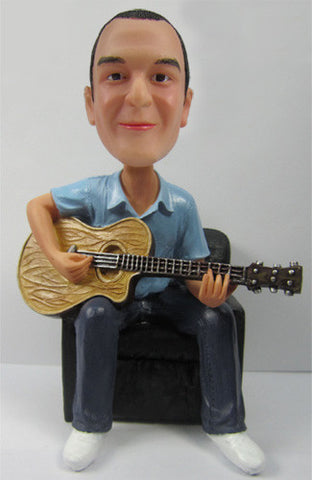 Male Guitar Player Bobblehead #1 - National Bobblehead HOF Store