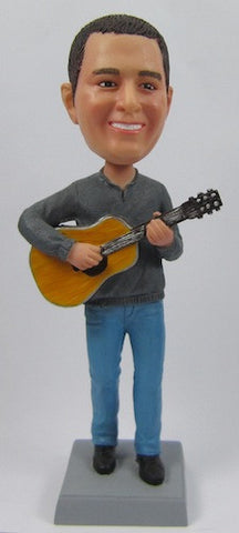 Male Guitar Bobblehead #6 - National Bobblehead HOF Store