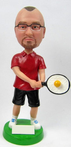 Male Tennis Player #4 - National Bobblehead HOF Store
