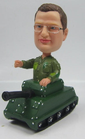 Soldier In Tank Bobblehead - National Bobblehead HOF Store