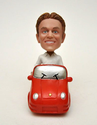 Porsche Car Bobblehead in Red - National Bobblehead HOF Store