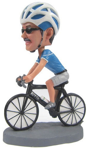 Custom Male Cyclist Bobblehead - National Bobblehead HOF Store