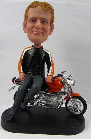 Male Motorcycle Rider Bobblehead