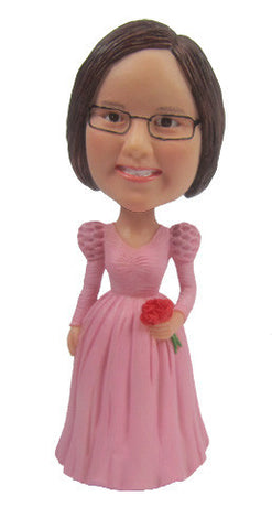 Pink Dress Bobblehead #1
