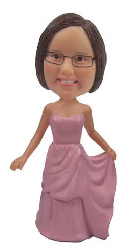 Pink Dress Bobblehead #2 - National Bobblehead HOF Store