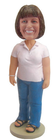 Casual Female Bobblehead #7 - National Bobblehead HOF Store