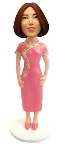 Asian Dress Bobblehead - National Bobblehead HOF Store
