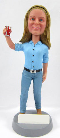 Casual Female Bobblehead #21 - National Bobblehead HOF Store