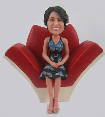 Female Dress Bobblehead #6