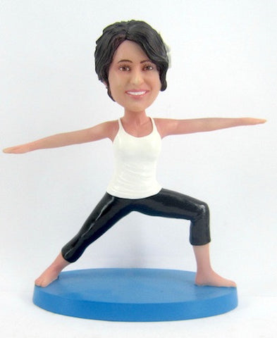 Female Yoga Bobblehead #2