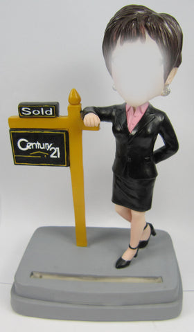Custom Female Realtor Bobblehead #1