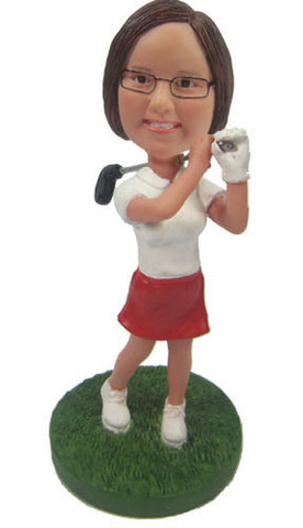 Female Golfer #1 - National Bobblehead HOF Store