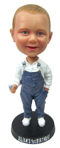 Child in Denim Overalls - National Bobblehead HOF Store