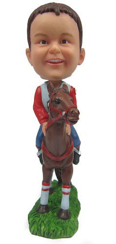 Child Jockey on Horse - National Bobblehead HOF Store