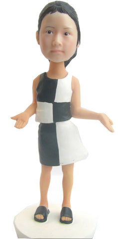 Black/White Dress Girl - National Bobblehead HOF Store