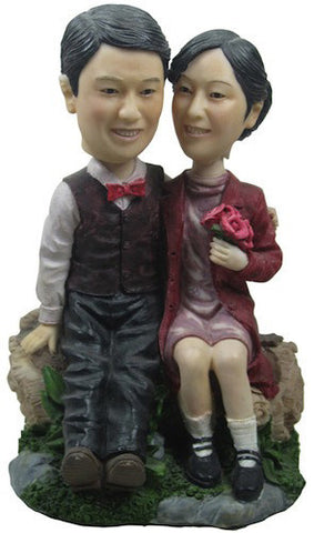 Classic Collectable Styled Couple Bobbleheads #2