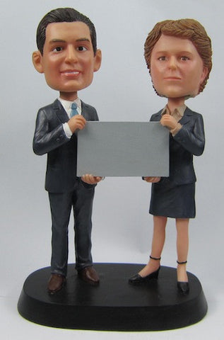 Classic Collectable Styled Couple Bobbleheads #6