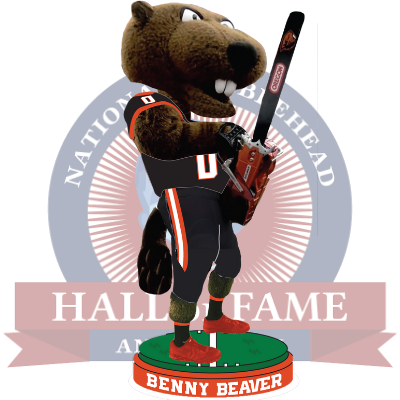 Benny Beaver Oregon State Beavers Turnover Chainsaw Bobblehead (Presale)