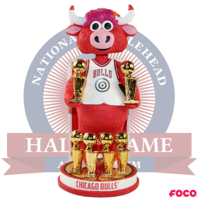 Benny the Bull Chicago Bulls Mascot 6-Time NBA Champions Bobblehead (Presale)