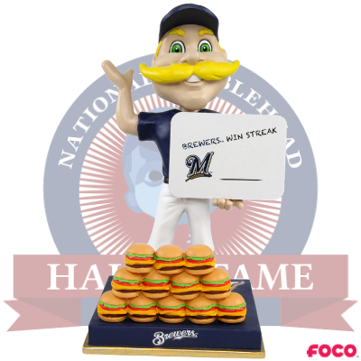 Bernie Brewer Milwaukee Brewers Mascot Win Streak Bobblehead