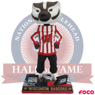 Wisconsin Badgers Back-to-Back Final Four Bucky Mascot Bobblehead - National Bobblehead HOF Store