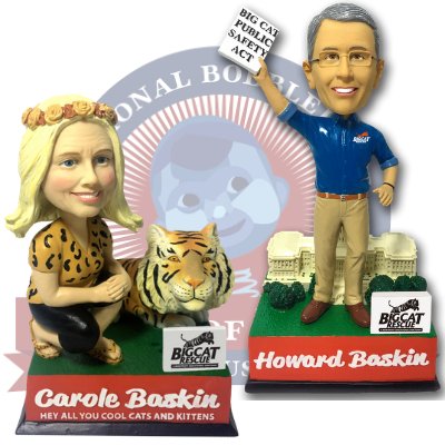 Carole and Howard Baskin Talking Bobbleheads (Presale)