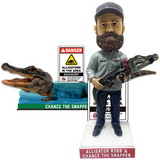 "Chance the Snapper and Frank ""Alligator"" Robb Bobbleheads"