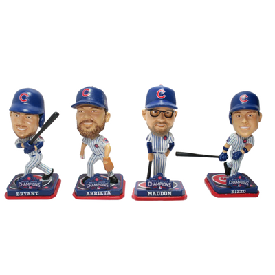 Chicago Cubs 2016 World Series Champions Mini Bobblehead Sets