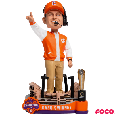 Clemson Tigers National Champions Special Edition Bobbleheads