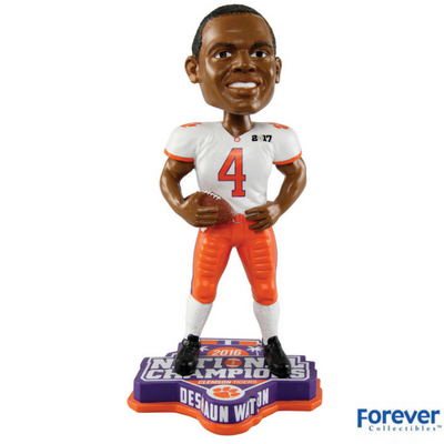 Clemson Tigers NCAA College Football National Champions Bobbleheads - National Bobblehead HOF Store