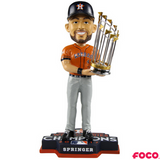 George Springer Houston Astros 2017 World Series Champions Orange Jersey Bobbleheads