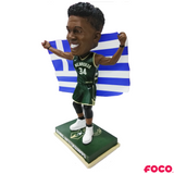 Giannis Antetokounmpo Milwaukee Bucks Greece Flag Bobblehead