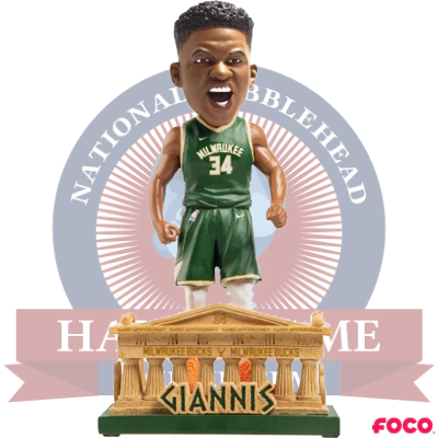 Giannis Antetokounmpo Milwaukee Bucks Parthenon Bobblehead