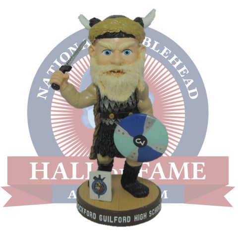 Guilford High School Vikings Mascot Bobblehead - National Bobblehead HOF Store