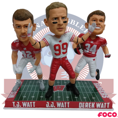 Watt Brothers Wisconsin Badgers Bobblehead - National Bobblehead HOF Store