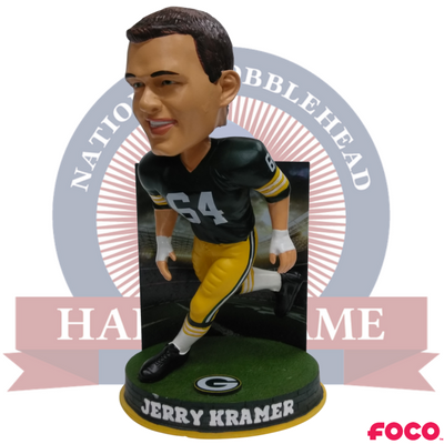 hot sales 6b231 5b9bb Jerry Kramer Green Bay Packers Bobblehead