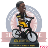 JuJu Smith-Schuster Pittsburgh Steelers Bike Bobblehead