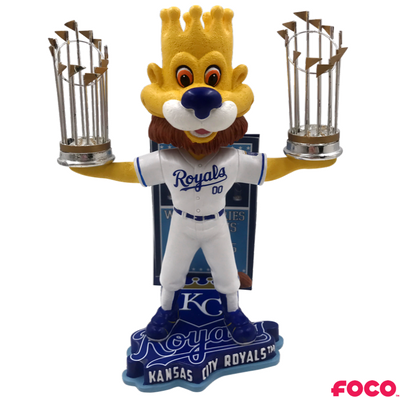 Kansas City Royals - Sluggerrr MLB World Series Champions Mascot Bobbleheads