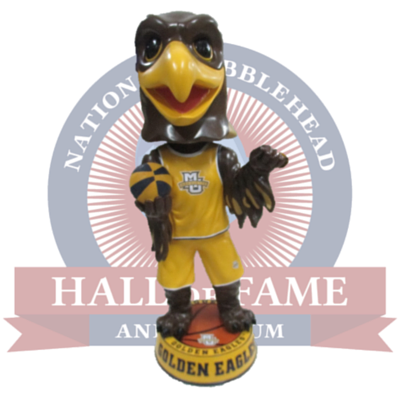 3 Foot Marquette Golden Eagles Mascot Bobblehead - National Bobblehead HOF Store