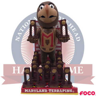 Maryland Terrapins NCAA Men's and Women's Lacrosse National Champions Bobblehead